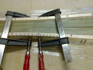 The middle stiffener with the cuts to be able to bend it